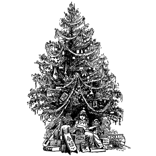 Tim Holtz Rubber Stamp  VINTAGE TREE Stampers Anonymous U1-2694 Preview Image