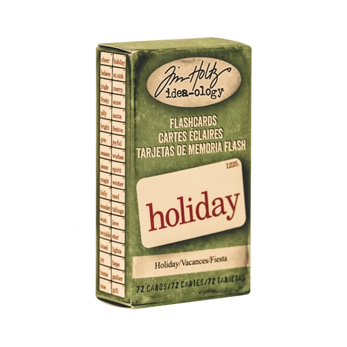 Tim Holtz Idea-ology HOLIDAY Flashcards TH93346 Preview Image