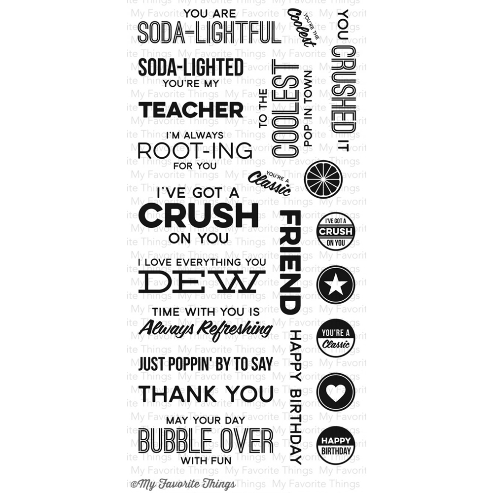 My Favorite Things SODA POP Clear Stamps LLD46 zoom image