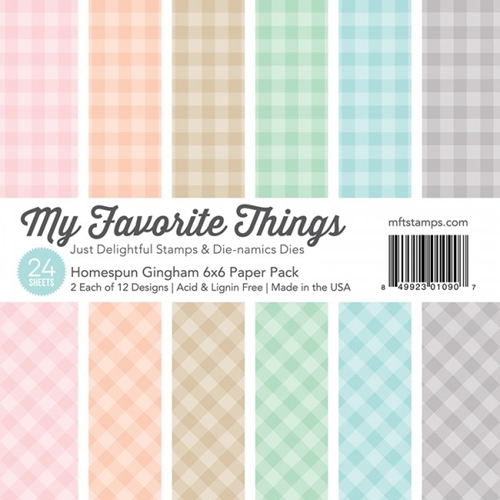 My Favorite Things HOMESPUN GINGHAM 6x6 Paper Pack 01090 Preview Image