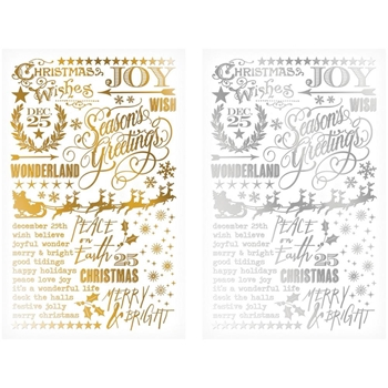 Tim Holtz Idea-ology GILDED HOLIDAYS Remnant Rubs TH93250