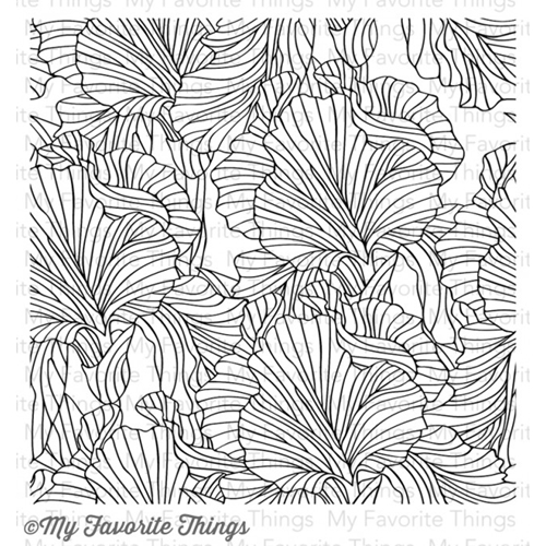 My Favorite Things ETCHED FLOWER BACKGROUND Cling Stamp MFT BG54 Preview Image