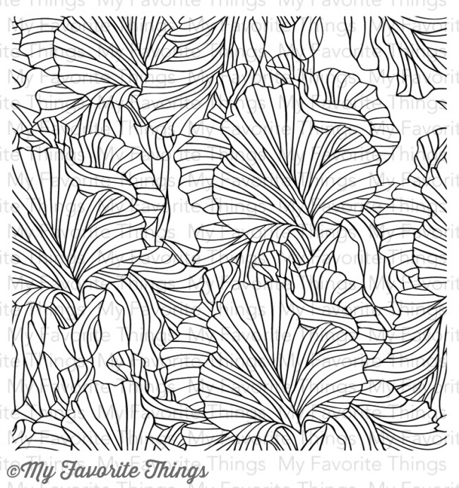 My Favorite Things ETCHED FLOWER BACKGROUND Cling Stamp MFT BG54 zoom image