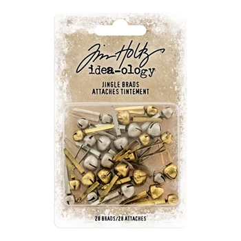 RESERVE Tim Holtz Idea-ology JINGLE BRADS Fasteners th93743