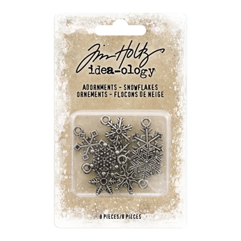 RESERVE Tim Holtz Idea-ology SNOWFLAKES Adornments th93763