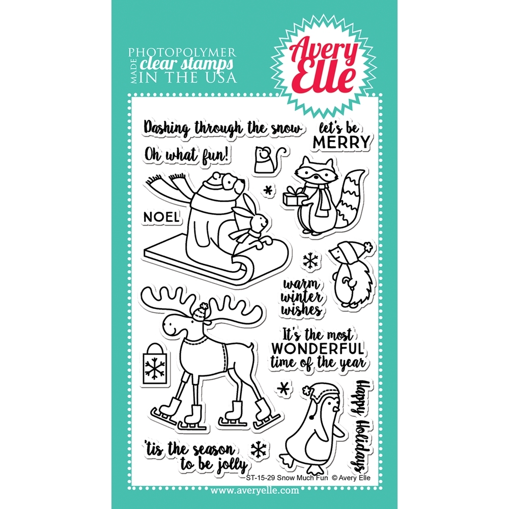 Avery Elle Clear Stamp SNOW MUCH FUN Set 023093 zoom image