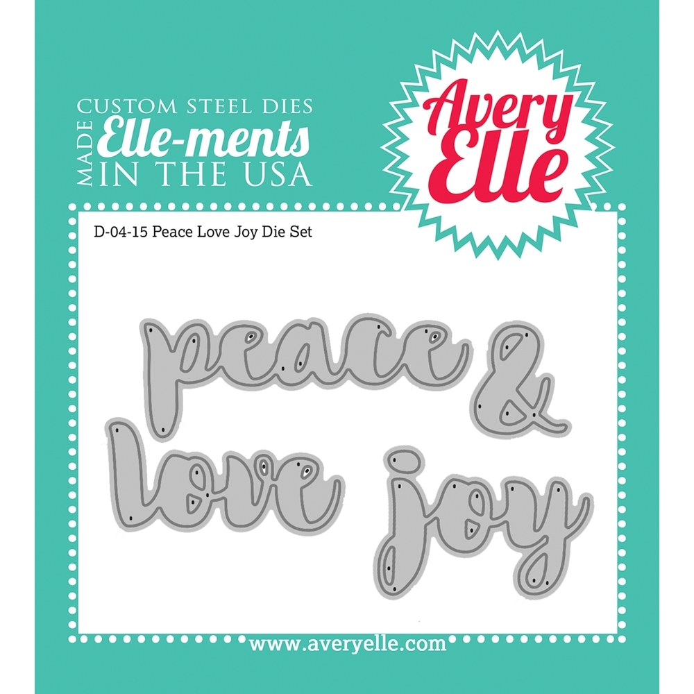 Avery Elle Steel Dies PEACE LOVE JOY Die Set 023246 zoom image