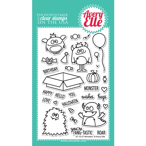 Avery Elle Clear Stamp MONSTERS Set 023079 Preview Image
