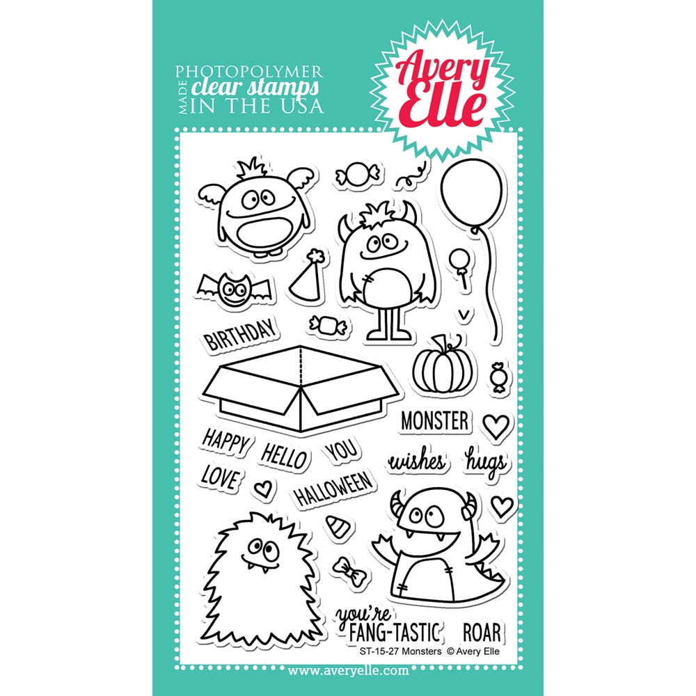 Avery Elle Clear Stamp MONSTERS Set 023079 zoom image