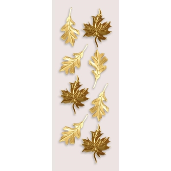 Little B GOLD AUTUMN LEAVES Mini Stickers 100728