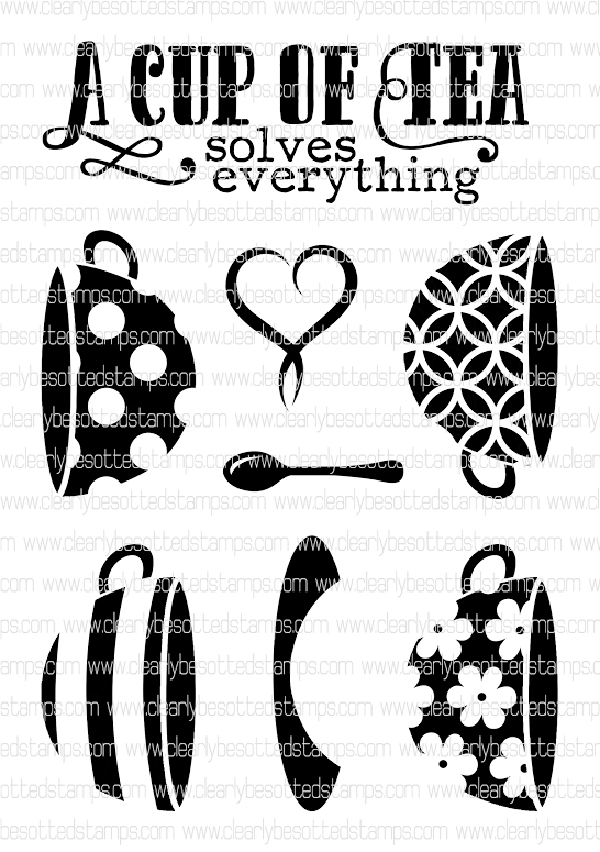 Clearly Besotted WARM SOLUTIONS Clear Stamp Set  zoom image