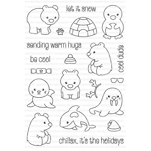 Clearly Besotted ARCTIC ANIMALS Clear Stamp Set  Preview Image