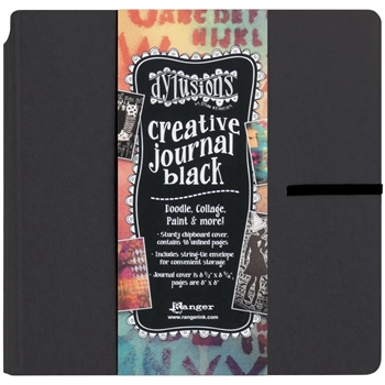 Ranger Dylusions 8x8 CREATIVE JOURNAL BLACK Dyan Reaveley DYJ45557