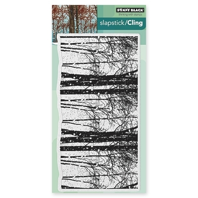 Penny Black Cling Stamp SNOWY GROVE 40418 zoom image