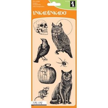 Inkadinkado Clear Stamp CREATURES OF THE NIGHT Set 60-31290