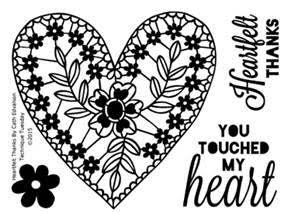 Technique Tuesday Cath Edvalson HEARTFELT THANKS Clear Stamps 02239* Preview Image