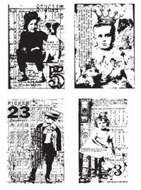 Tim Holtz Rubber Stamp KIDS CUBE Winged Stampers Anonymous cb25 Preview Image