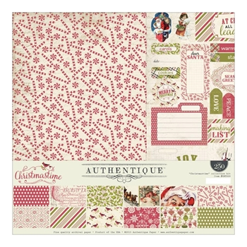 Authentique CHRISTMASTIME 12 x 12 Collection Kit CMT009*