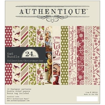 Authentique 6 x 6 CHRISTMASTIME Paper Pad CMT008