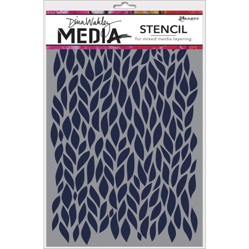 Dina Wakley LEAFY Media Stencil MDS47506 Preview Image