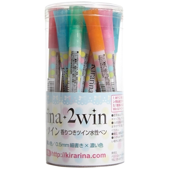 Kirarina 2Win SET OF 18 Scented Markers 522223