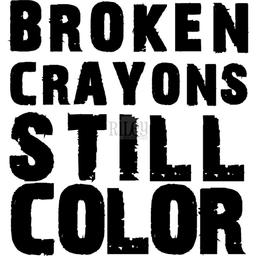 Riley And Company Funny Bones BROKEN CRAYONS Cling Rubber Stamp INS-126 Preview Image