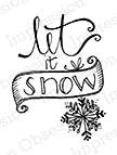 Impression Obsession Cling Stamp LET IT SNOW Set C19018 Preview Image