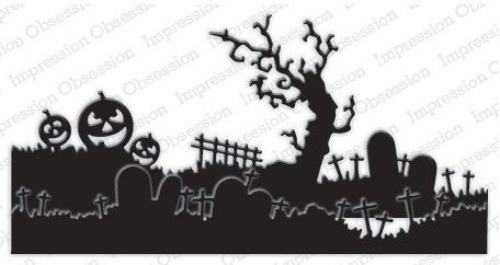 Impression Obsession Steel Die HALLOWEEN LANDSCAPE LAYERS Set DIE332-ZZ zoom image