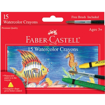 Faber-Castell WATERCOLOR CRAYONS 15 Pack 703113
