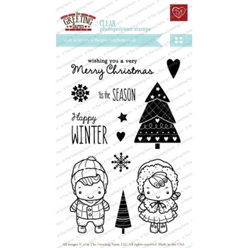 The Greeting Farm HAPPY WINTER Clear Stamps TGF207