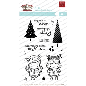 The Greeting Farm SING HELLO Clear Stamps TGF209