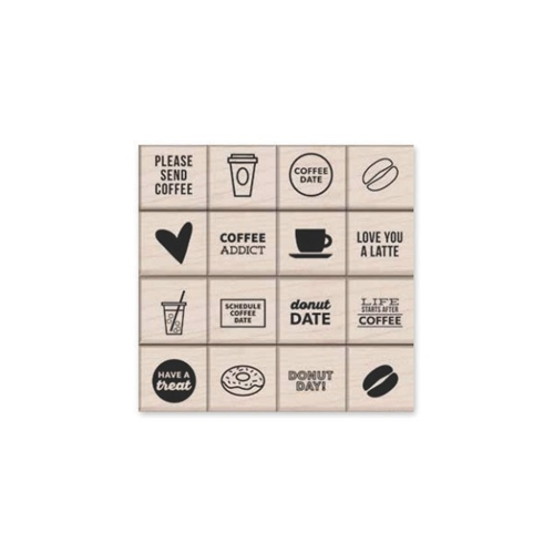 Hero Arts Rubber Stamps Kelly's Coffee and Donuts lp395 Preview Image