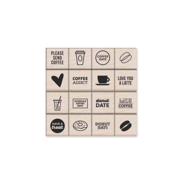 Hero Arts Rubber Stamps Kelly's Coffee and Donuts lp395 zoom image