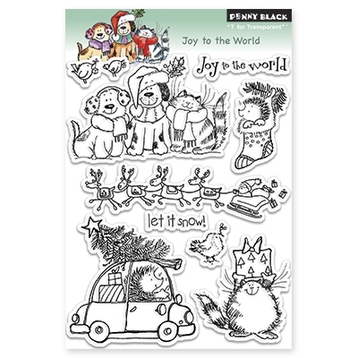 Penny Black Clear Stamps JOY TO THE WORLD 30-143 zoom image