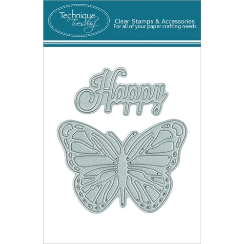 Technique Tuesday DIY Dies HAPPY BUTTERFLY 02214 Preview Image