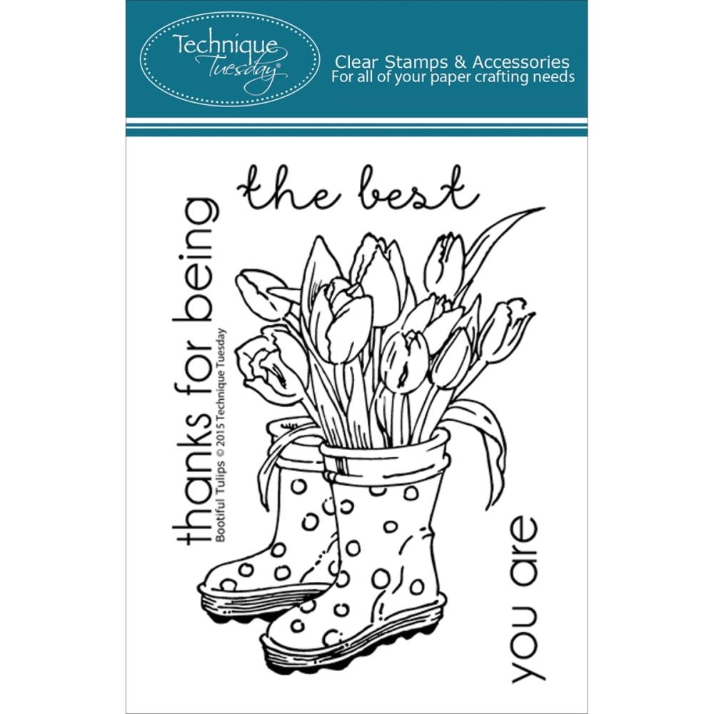 Technique Tuesday BOOTIFUL TULIPS Clear Stamps 02216 zoom image
