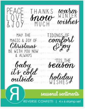 Reverse Confetti SEASONAL SENTIMENTS Clear Stamp Set*