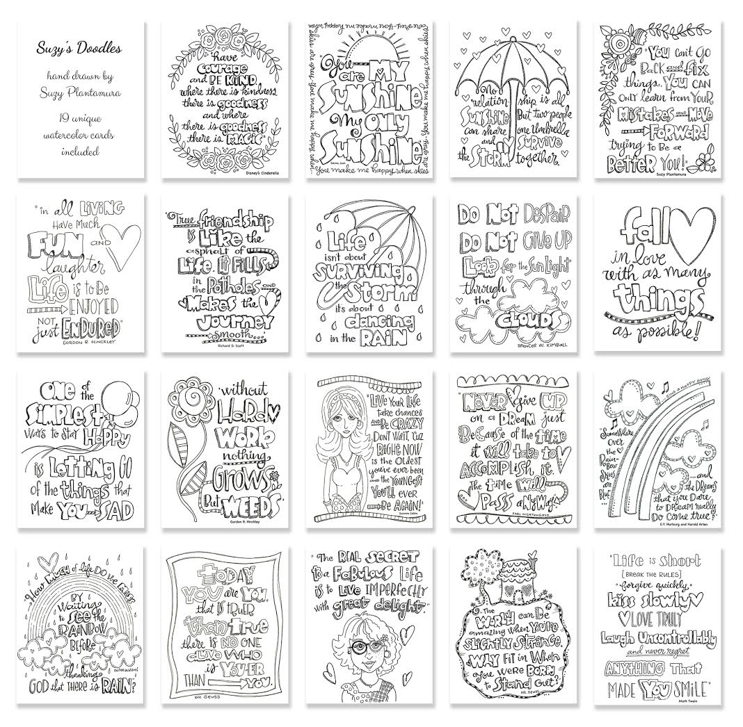 Simon Says Stamp SUZY'S WATERCOLOR DOODLES Prints SWD19