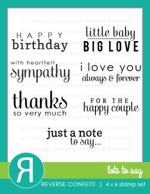 Reverse Confetti - Lots to Say stamp set