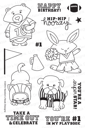 Newton's Nook Designs TOUCHDOWN TAILS Clear Stamp Set 20150901 Preview Image