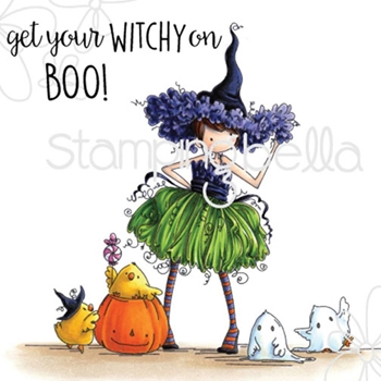Stamping Bella Cling Stamp TINY TOWNIE WILLOW THE WITCH Rubber UM eb324