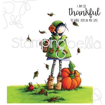 Stamping Bella Cling Stamp TINY TOWNIE FAY LOVES FALL Rubber UM eb323