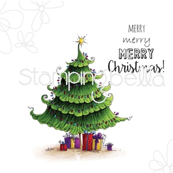 Stamping Bella Cling Stamp UPTOWN CHRISTMAS TREE Rubber UM eb318