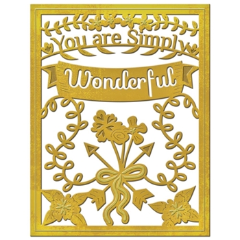 S4-562 Spellbinders SIMPLY WONDERFUL Die Set