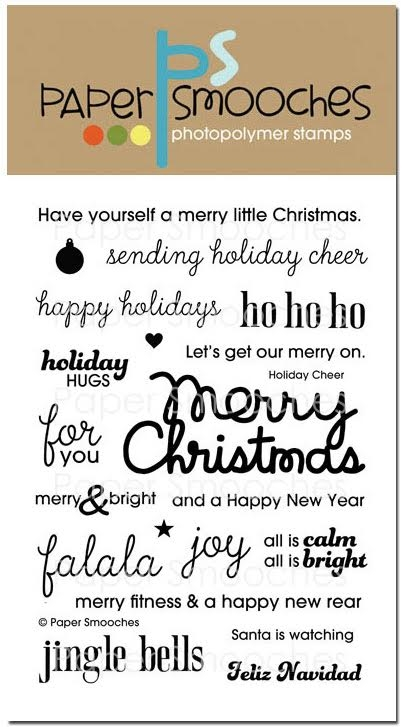 Paper Smooches HOLIDAY CHEER Clear Stamps OCS256 zoom image