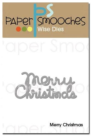 Paper Smooches MERRY CHRISTMAS Wise Die OCD273 Preview Image
