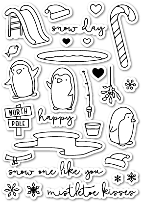 Memory Box Clear Stamps SNOW ONE LIKE YOU POPPY STAMPS CL410* Preview Image