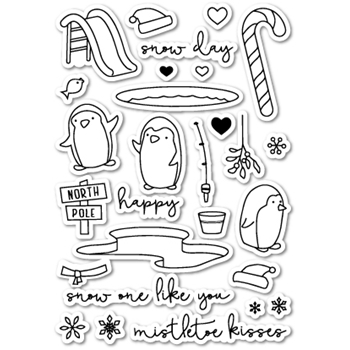 Memory Box Clear Stamps SNOW ONE LIKE YOU POPPY STAMPS CL410*