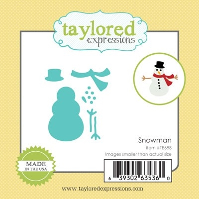 Taylored Expressions Little Bits SNOWMAN Die Set TE688 Preview Image