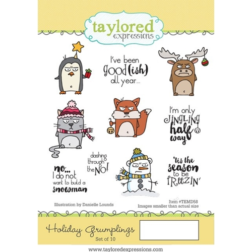 Taylored Expressions HOLIDAY GRUMPLINGS Cling Stamp Set TEMD58 Preview Image